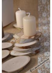 12 tranches de bois ovales