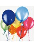 20 Serviettes Ballons colorés
