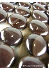250G Bille de verre opale chocolat