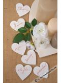 18 coeurs en bois blanc 5cm