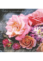 20 Serviettes La vie en rose