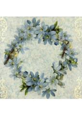 20 Serviettes Fleur Bleue