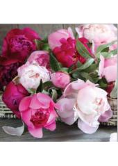 20 Serviettes Bouquet de Pivoines