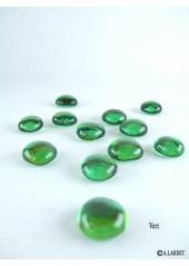 250G Bille de verre cristal verte