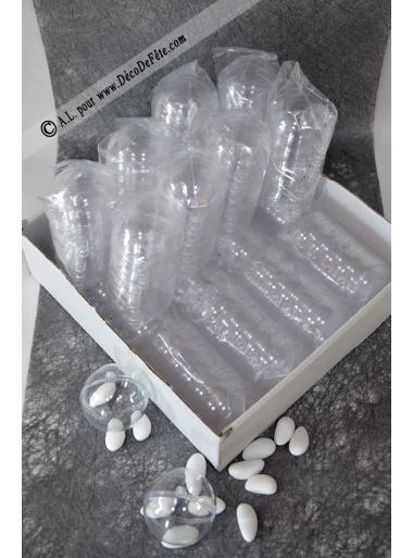 300 Boules transparentes 5cm