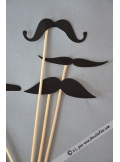 1 kit MOUSTACHES pour photobooth