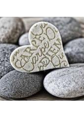 20 Serviettes Coeur Zen