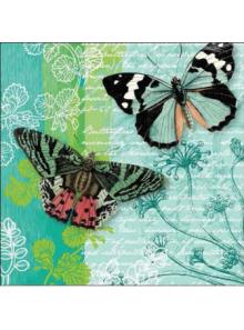 20 Serviettes papillons Lily et Lola