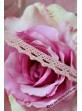 10M dentelle VIEUX rose 10mm