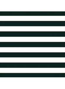 20 Serviettes rayures noires