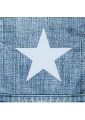 20 Serviettes STAR bleu jean