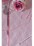 5M chemin de table dentelle 30cm rose