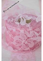 20M tulle dentelle Lilly 5cm rose