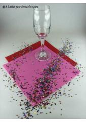 Confettis mini étoiles multicolores