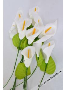 12 arums blanc