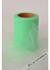 20M Tulle 8cm déco vert amande