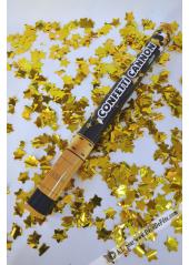 1 Canon à confettis ETOILES or 60cm