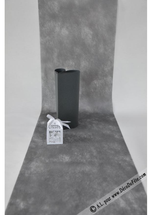 10m chemin de table sublim anthracite - Chemin de table gris anthracite ...