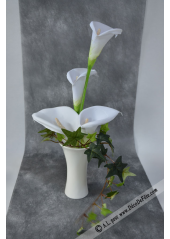 1 vase tulipe porcelaine blanche