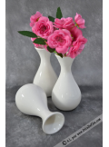 1 vase solo porcelaine blanche