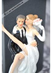 1 couple de mariés JARRETIERE