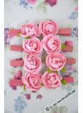 8 pinces ROSE rose
