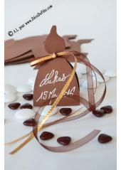 10 boites communion bougie chocolat