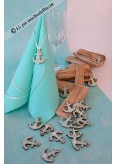 18 ANCRES bleu aqua