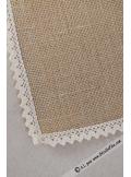 1 napperon carré 30cm jute et dentelle