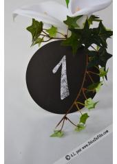 12 marques table ronds noir 13cm