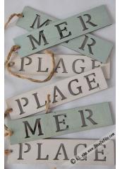 1 plaquette en bois PLAGE