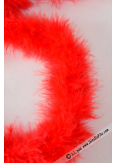 1 boa marabout rouge