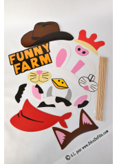 1 kit photobooth FUNNY FARM