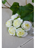 6 roses liberty blanches
