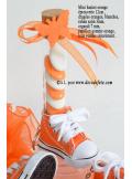 1 Basket porte clés orange