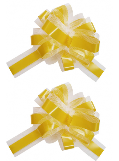 5 Noeuds automatiques avec tulle jaune