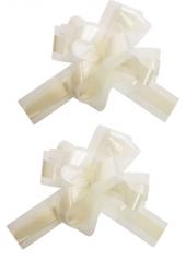 5 Noeuds automatiques avec tulle ivoire