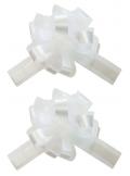 5 Noeuds automatiques avec tulle blanc