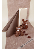 10M Chemin de table REFLET chocolat