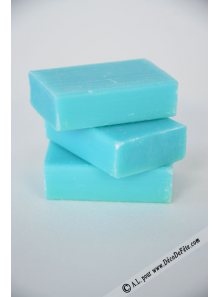 1 mini savon rectangle turquoise
