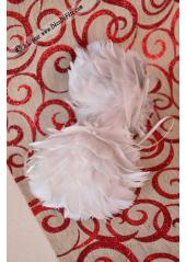 1 boule de plumes taupe 10cm