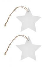 4 étoiles marque-place bois blanc