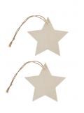 4 étoiles marque-place bois naturel