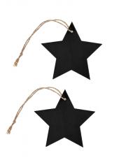 4 étoiles marque-place bois noir