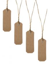 12 étiquettes marque-place rectangle carton naturel