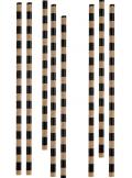 20 pailles rayées kraft
