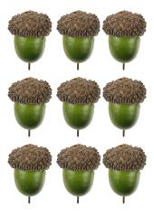 10 GLANDS vert 3.5cm