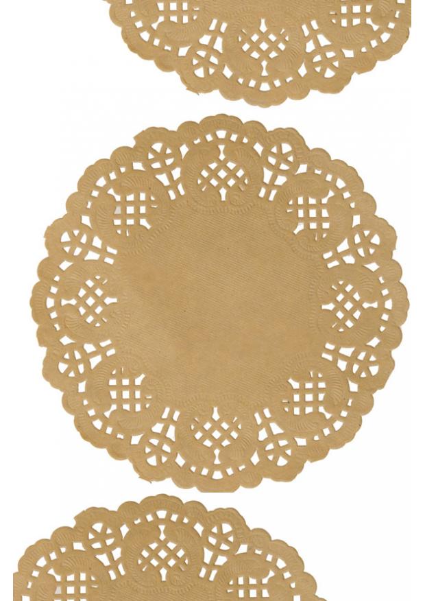 10 napperons papier dentelle kraft 35cm. Black Bedroom Furniture Sets. Home Design Ideas