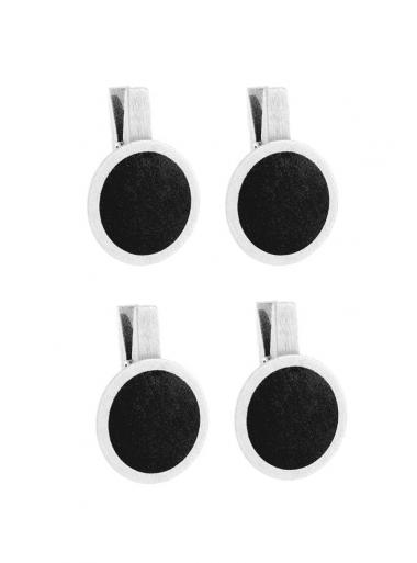 4 petites ardoises rondes blanc