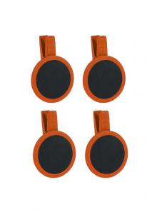 4 petites ardoises rondes orange